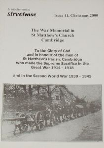 The War Memorial in St Matthew's Church, Cambridge